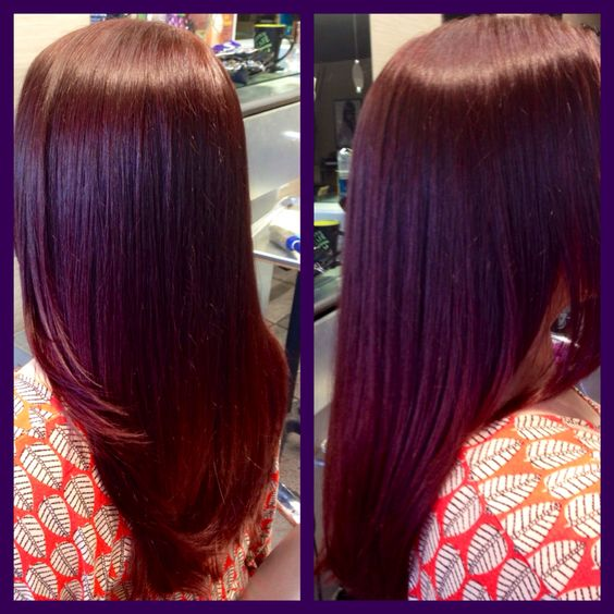 Fall Is Kicking Mohagony Auburn And Rich Red Browns Are Very Wanted Here Another Reflective Purple Brown Pre Hair As Usual Start At Lev