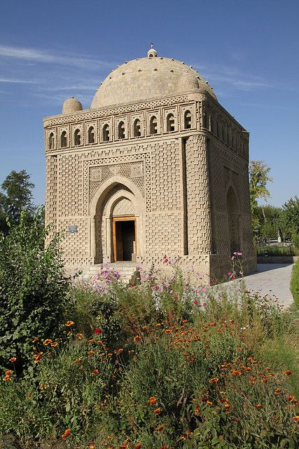 The Samanid mausoleum is located in the historical urban nucleus of the city of Bukhara, in a park laid out on the site of an ancient cemetery. This mausoleum, one of the most esteemed sights of Central Asian architecture, was built in the 9th (10th) century  as the resting-place of Ismail Samani - a powerful and influential amir of the Samanid dynasty, one of the Persian dynasty to rule in Central Asia, which held the city in the 9th and 10th centuries.