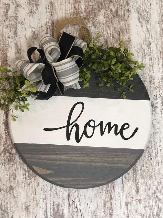 Housewarming Gift Circle Sign Front Door Decor Farm House Decor Established Family Sign Home Decor Door Hanger