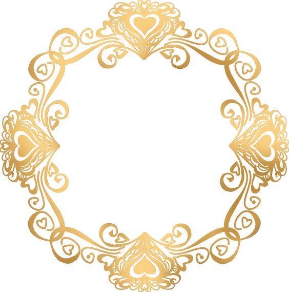 Valentinegoldframe Png 684 691