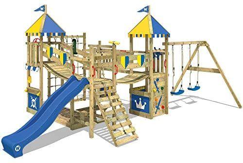 Wickey Parco Giochi In Legno Smart Queen Giochi Da Giardino Con Altalena E Scivolo Blu Torre D Arrampicata Da Estern Parchi Giochi Giochi Da Giardino Altalena