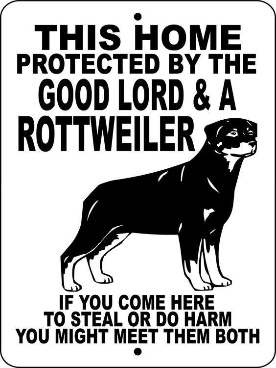 ROTTWEILER Dog Sign 9x12 ALUMINUM glrott1 by animalzrule on Etsy, $12.00
