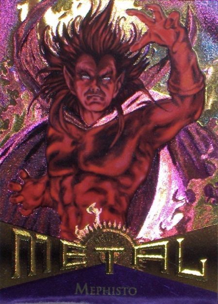 Mephisto 1995 Marvel Metal Card Number #34