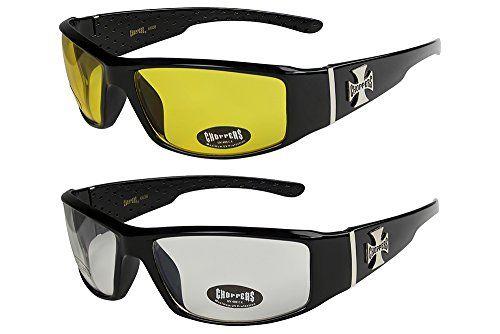 2er Pack X-CRUZE® Fahrrad Fahrradbrille Sonnenbrille Brille Herren Damen schwarz