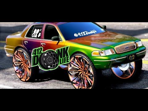 Gta 5 Donks And Outrageous Whips Colorshift Crown Vic On 32s Bigrim Rideout Hd 1080p Youtube Donk Cars Gta Gta 5