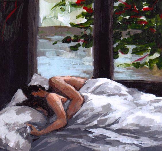 wall art . Asleep . 13 x 19 couple print. $45.00, via Etsy.: