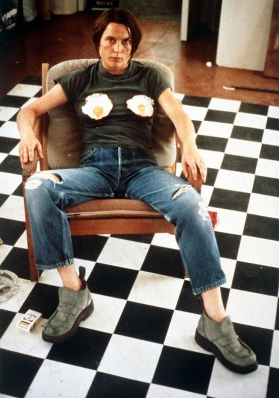 Sarah Lucas Self-portrait with Fried Eggs, 1996.: