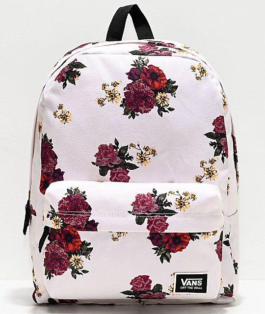 Vans Realm Classic Botanical Floral Backpack   Floral