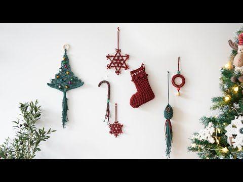 Macrame Diy Macrame Christmastree Tutorial 30 Youtube In 2020 Macrame Diy Ornament Tutorial Noel Diy