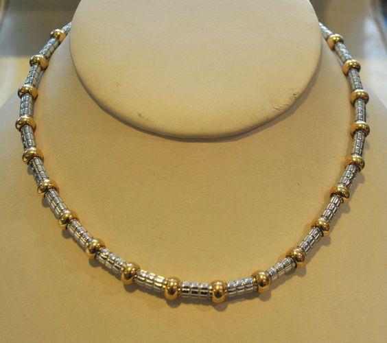 Gorgeous Italian Designer FARAONE 18K Yellow & White Gold Necklace- Est. $30K!