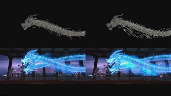 """The effect team worked closely with the animators when creating the dragons in Dragons, as the speed and scale of the dragons determined what effects would be used"""