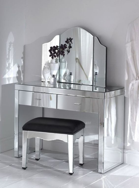 Lighted Makeup Vanity Table Set vanity bedroom table with oval - Bedroom Vanity Table