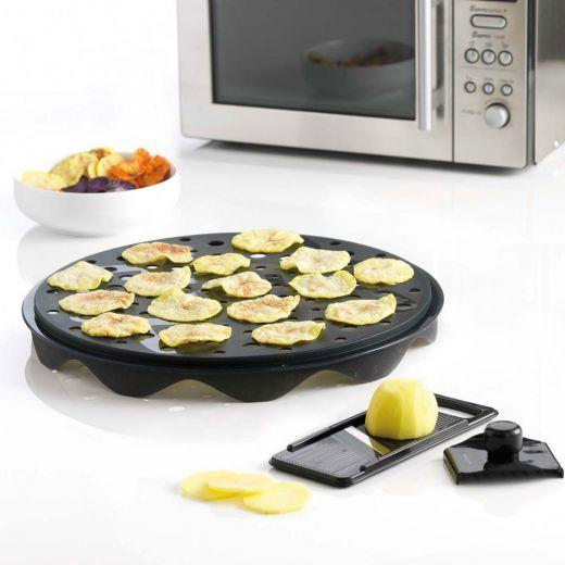 Mastrad Microwaveable Chip-Making Plate with Mandoline-yuppiechef