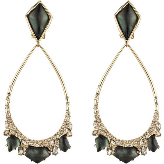 Alexis Bittar Crystal Doublet Tear Drop Clip Earring ($325) ❤ liked on Polyvore