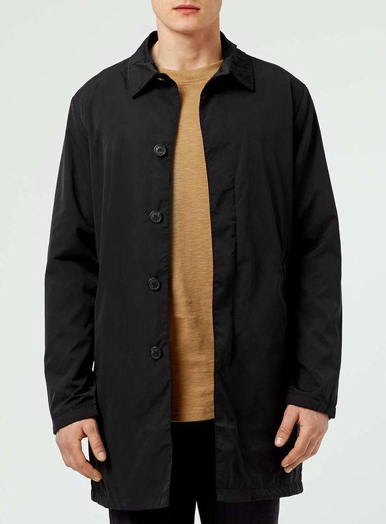 SELECTED HOMME Black Felix Coat - Men's Coats & Jackets - Clothing - TOPMAN