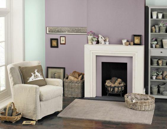 Wohnraumgestaltung mit Farben - Lavendel und Minzgrün im ...