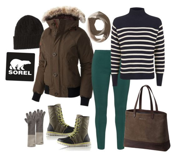 """""""Tame Winter with SOREL: Contest Entry"""" by theranna ❤ liked on Polyvore featuring Ralph Lauren, SOREL, Gozzip and Topshop"""