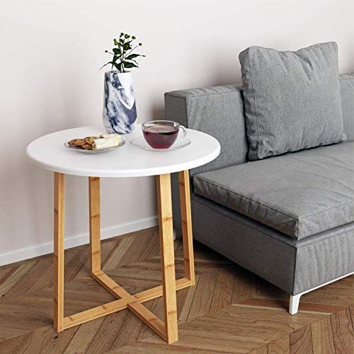Amazing Offer On Bameos Side Table Modern Nightstand Round Side