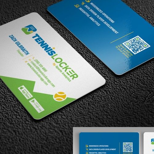 Business Card Design For A Mobile App Tennis Locker Is An App That Is Intended To Deliver A Unique Business Cards Business Card Design Business Card Minimalist