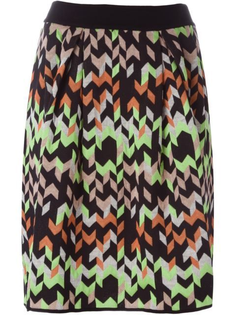 MISSONI Geometric Print Knit Skirt. #missoni #cloth #skirt
