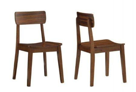 Amazon.com: Boraam 33312 Zebra Series Hagen Dining Chair, Walnut, Set of 2: Furniture & Decor