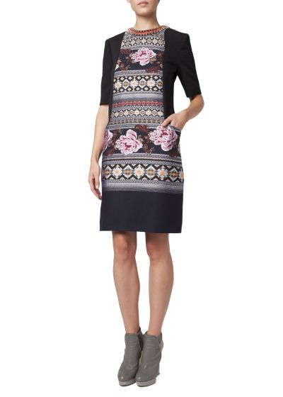 Floral Folk Tunic Dress
