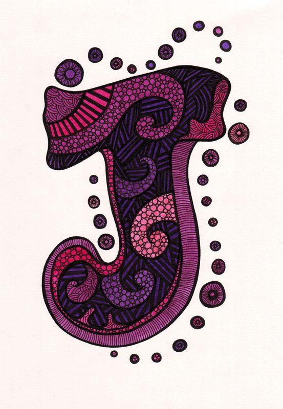 Letter art  Lett...J Design Letter