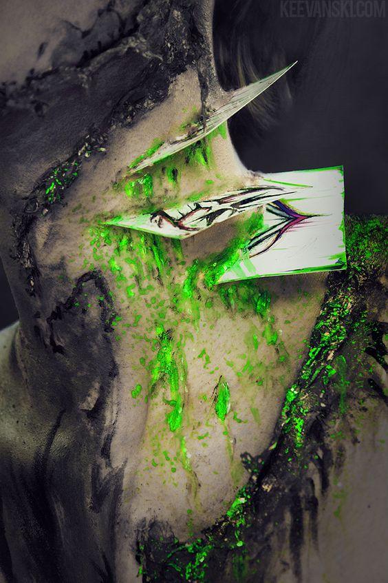 Batman Vs Joker Inspired Makeup Fx // Halloween ideas 2015 Costume Easy Cheap Body Painting DC Comics