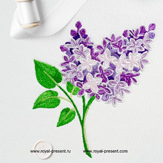 Lilac Machine Embroidery Design 2 Sizes Other Flowers Machine Embr Flower Machine Embroidery Designs Machine Embroidery Designs Sewing Embroidery Designs