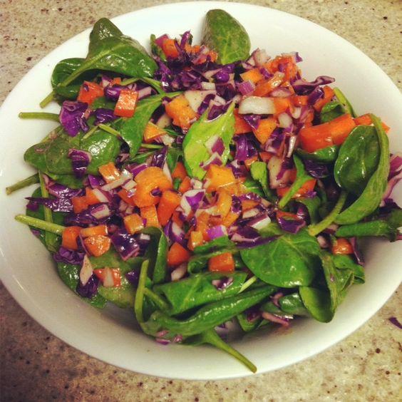 Detox Salad with Dijon Maple Dressing