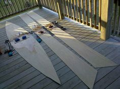 """How to build a plywood boat for cheap. 2 sheets of 1/4"""" flexible plywood."""