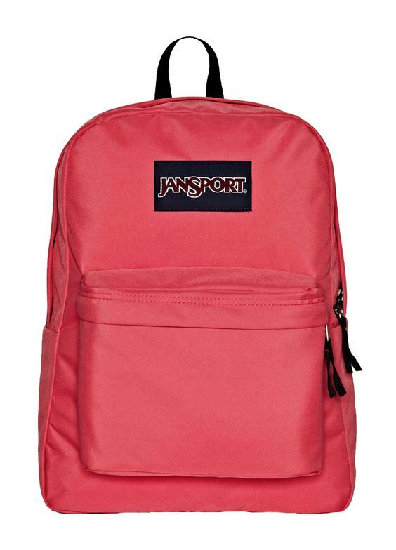 her new favorite accessory -- pink @JanSport backpack wash ours all the time!  washes beautiful
