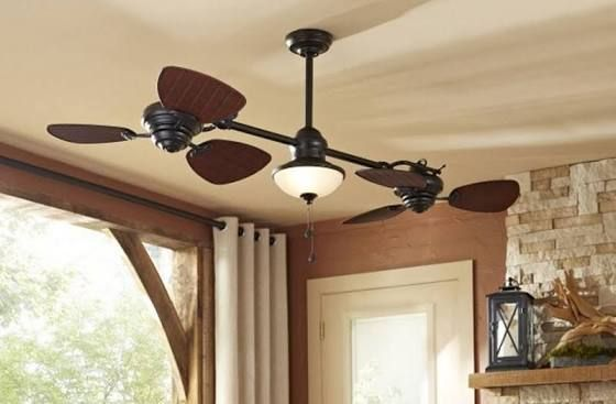 Twin Ceiling Fan With Images Ceiling Fan Ceiling Fans Without