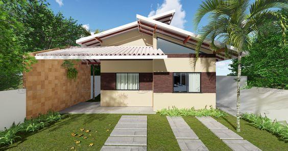 casa telhado colonial duas águas