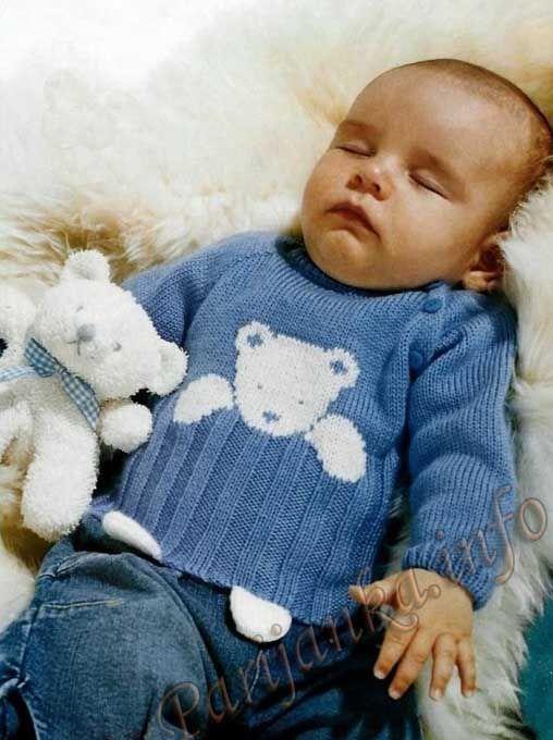 Распашонка или пуловер (д) 08*401 Phildar №3933: