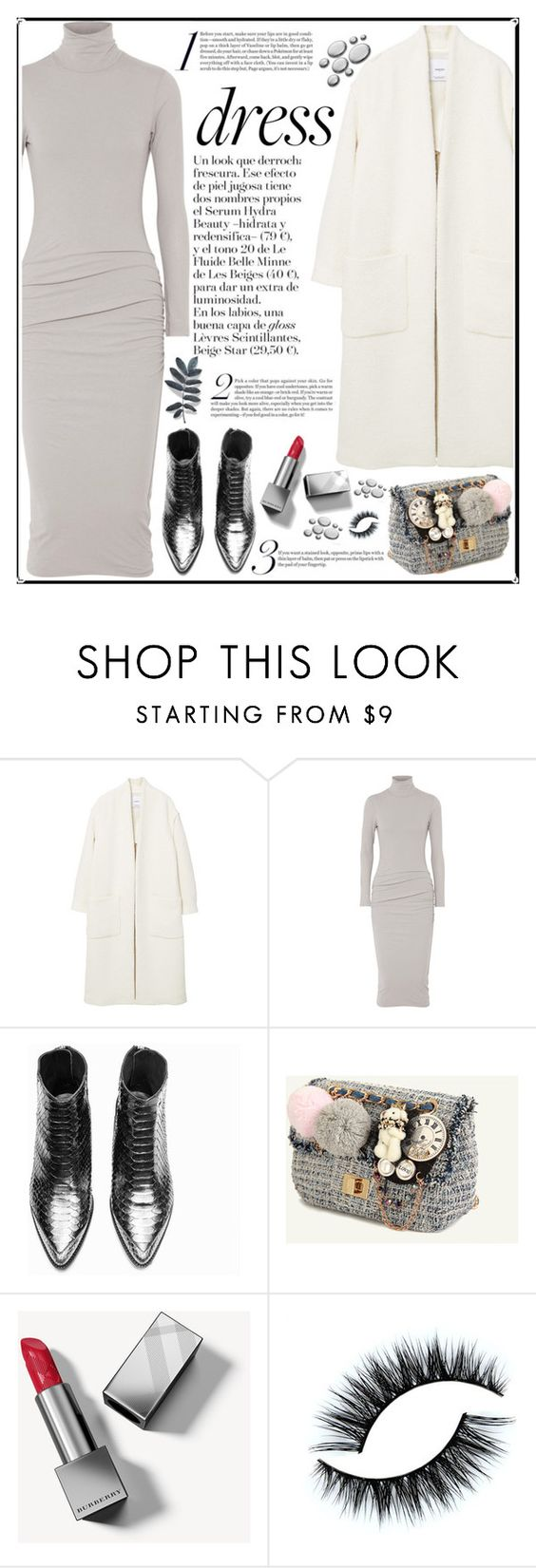 """""""FASHION GIRLS : LOOK"""" by licethfashion ❤ liked on Polyvore featuring MANGO, James Perse and Burberry"""