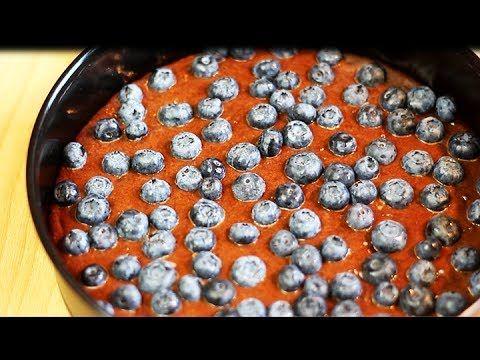 CHOCOLATE BLUEBERRY CAKE - YouTube