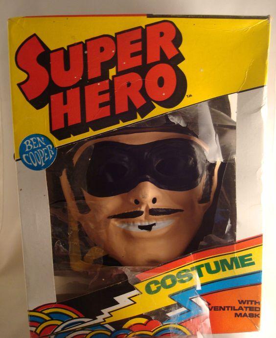 Ben Cooper 1981 Child's Zorro Mask Costume Vintage in Box Halloween Super Hero