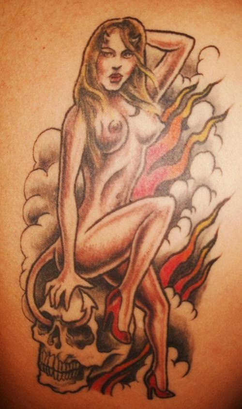naked female butt hole