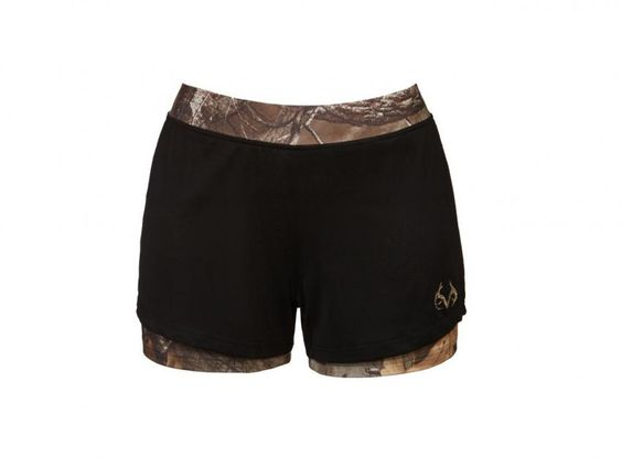 Realtree women's Activewear camo layer shorts 2017 - The Canopy legging uses the classic Realtree Xtra print to its best advantage, shaping the body and camouflaging the parts that need it most. Features a silver reflective Realtree logo in back.