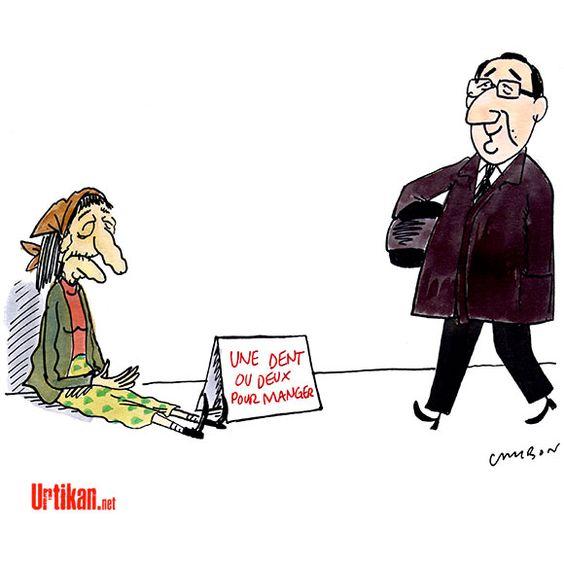 Les «sans-dents», l'expression de François Hollande qui choque - Dessin du jour - Urtikan.net