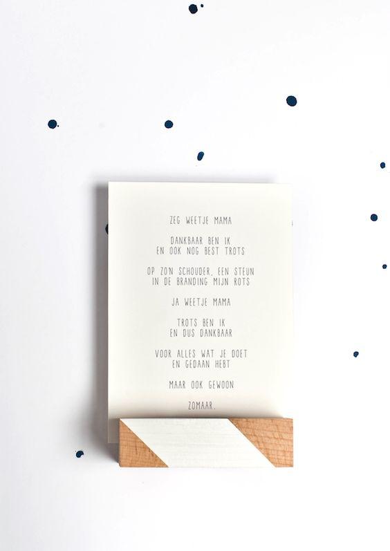 Moederdag cadeau idee, kaart voor mama, tekstje voor moeder. © Gewoon JIP. Persoonlijke Teksten en Gedichten