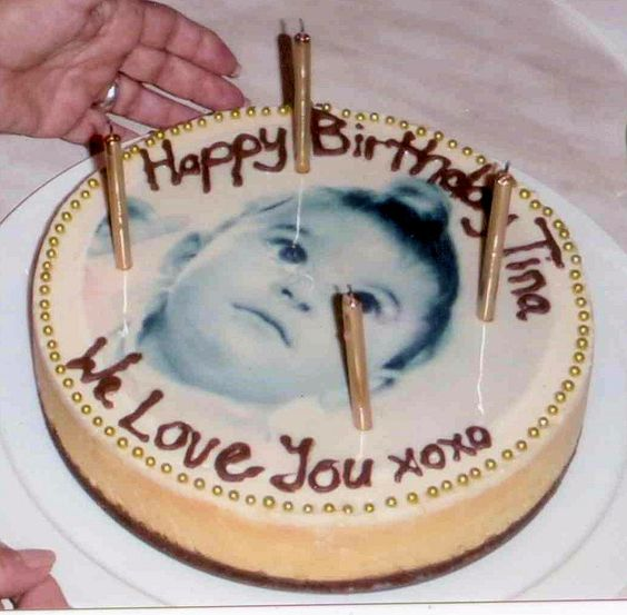CustomIcing.com.au edible images can be placed onto cheese cakes and look amazing!