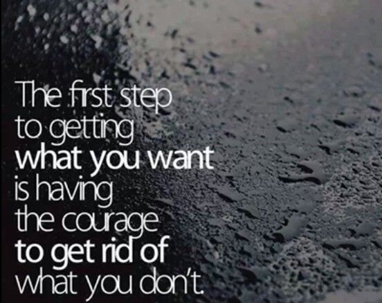 First step.....courage!!!