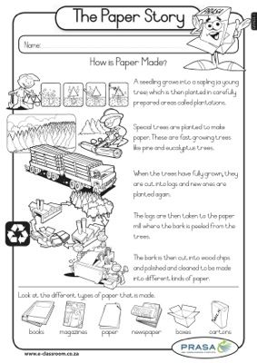 caps worksheet grade3 lifeskills t2 recycling the paper story science pinterest recycling. Black Bedroom Furniture Sets. Home Design Ideas