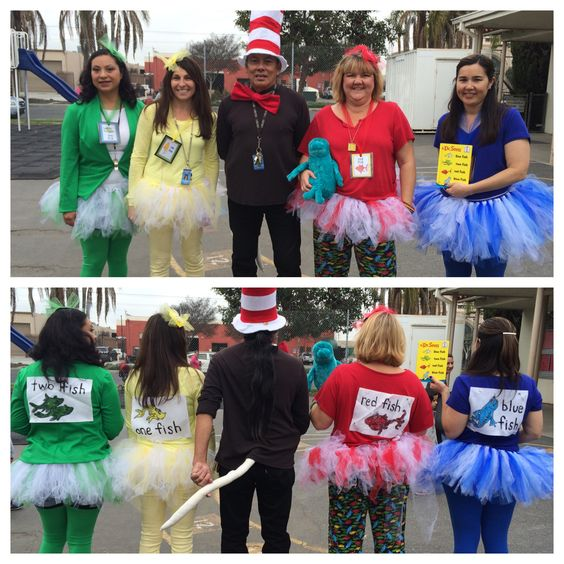 I fish 2 fish red fish blue fish dr seuss for One fish two fish costume