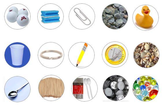 Drijven zinken: lamineer de fiches en laat verdelen in een stapel drijven en een stapel zinken. Elk jaar hergebruiken...