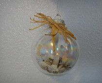 beach ornament, fill with a little sand, tiny shells and a starfish maybe?