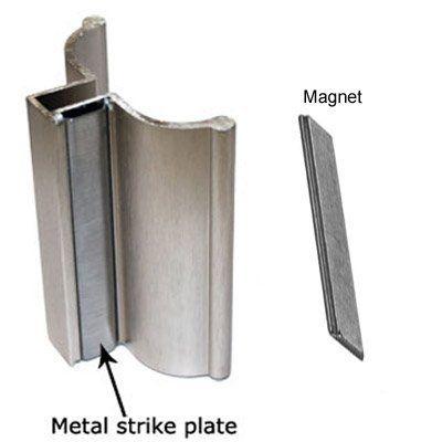 Brushed Nickel Frameless Shower Door Handle With Metal Strike And Magnet Set Review Frameless Shower Doors Shower Doors Shower Door Handles