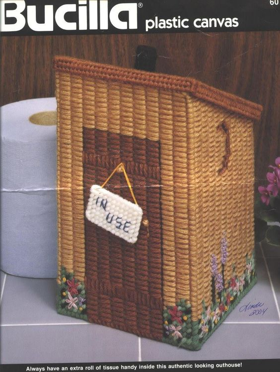 Book Cover Paper Roll : Outhouse plastic canvas pinterest toilet roll